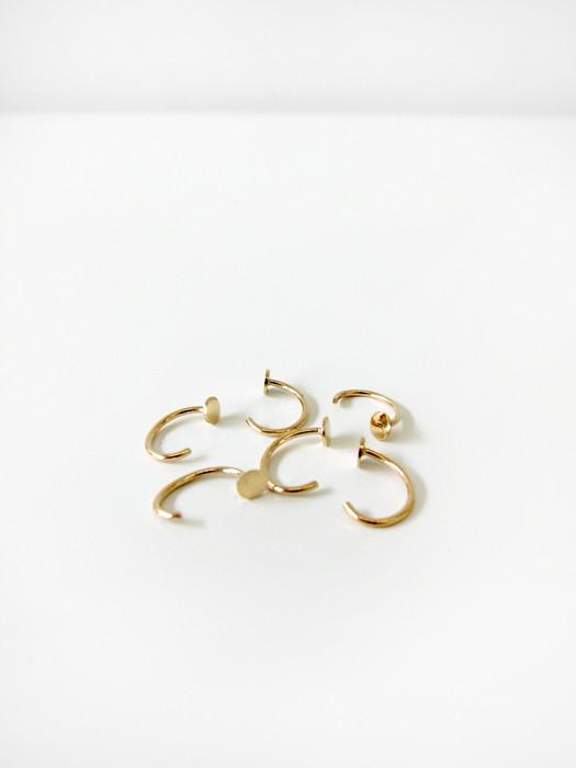 Saskia Diez Paillette Mini Stud Earring