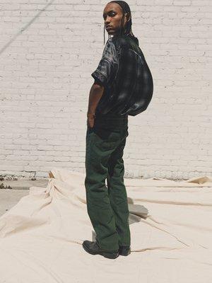 PHIPPS Cowboy Cotton Boot Cut Jeans - Bottle Green