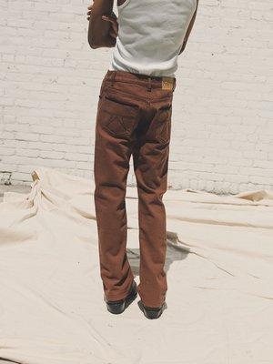 PHIPPS Cowboy Cotton Boot Cut Jeans - Saddle Brown