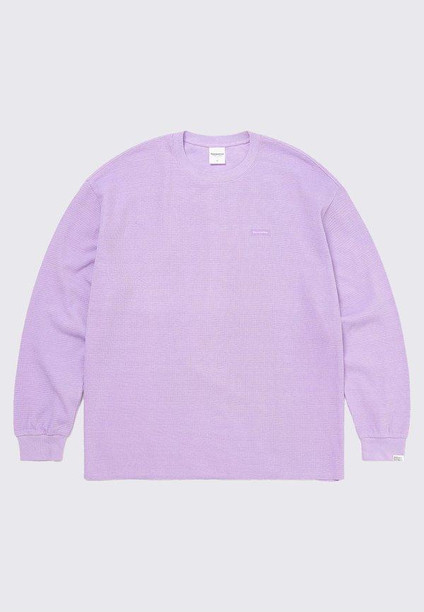 ThisIsNeverThat T-Logo Waffle Long Sleeve - lavender