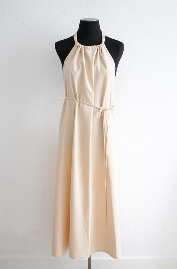 Baserange  Dour Apron Dress - Tampa Tan