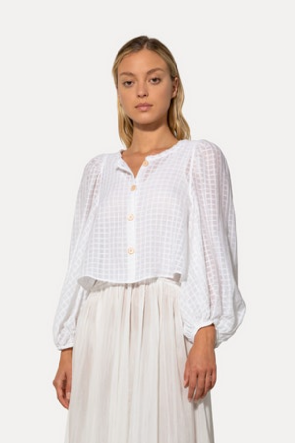 Forte Forte Organza Check Voile Shirt - Blanco
