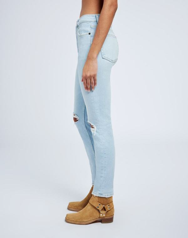 RE/DONE 90s High Rise Ankle Crop denim - icy blue