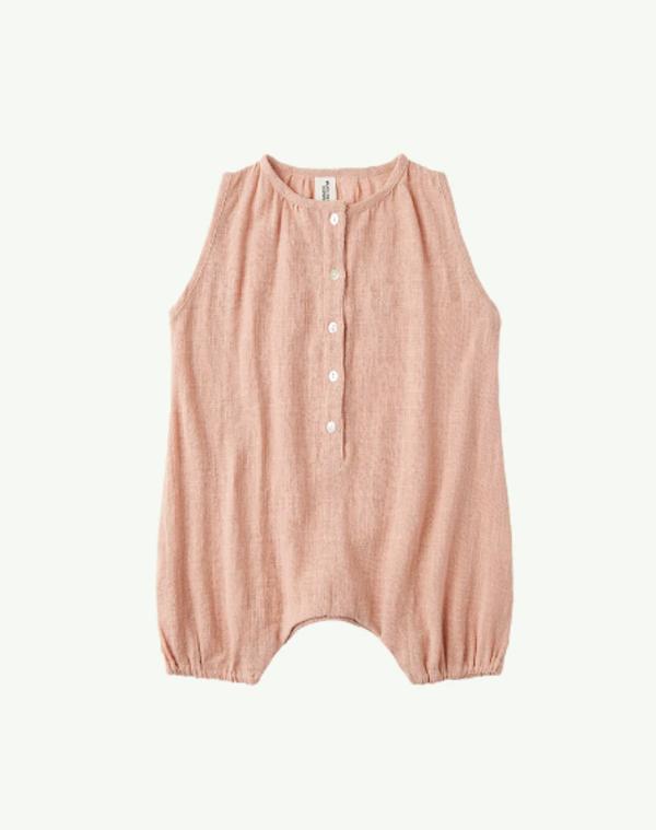 kids Summer & Storm Cotton Onesie - Dusty Peach