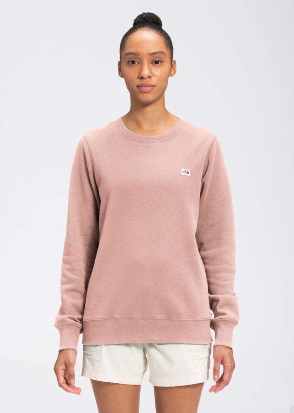 The North Face Heritage Patch Crew - Evening Sand Pink Heather
