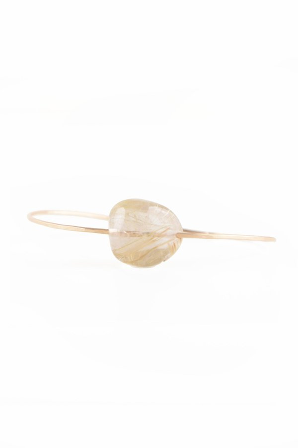 Mary MacGill Small Stone Cuff - Natural