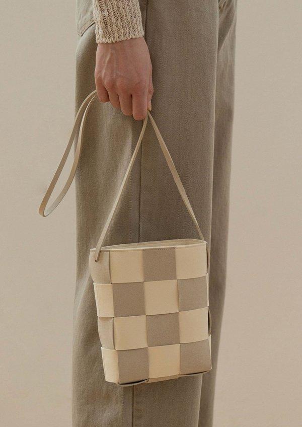 W A N T S Woven Shoulder Bag - Beige