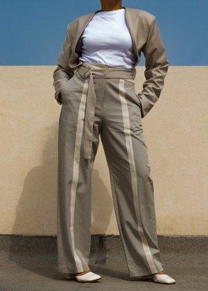 W A N T S Bolero Belted Blazer - Beige