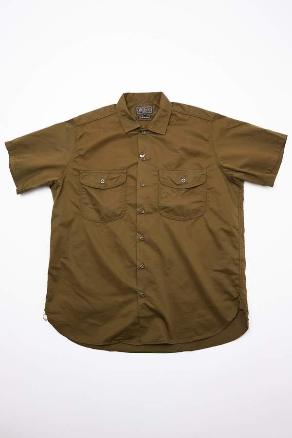 Beams Plus Short Sleeve Work Twill Shirt - Olive