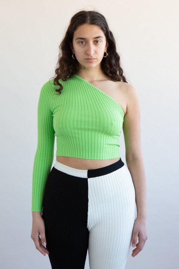 Giu Giu Nonna One Sleeve top - Celery