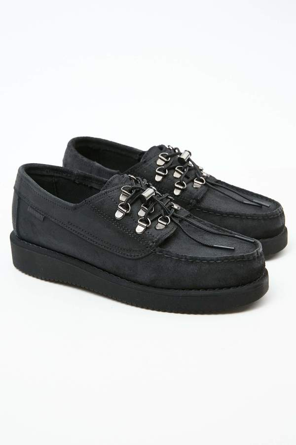 Engineered Garments x Sebago Men's Overlap shoes - Black/Vibram Sole