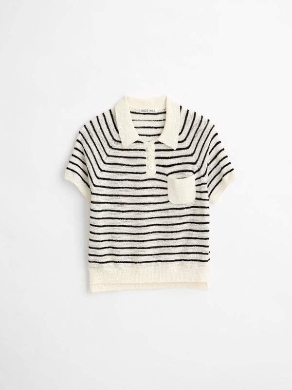 Alex Mill Clifford Sweater Striped - Black/Ivory
