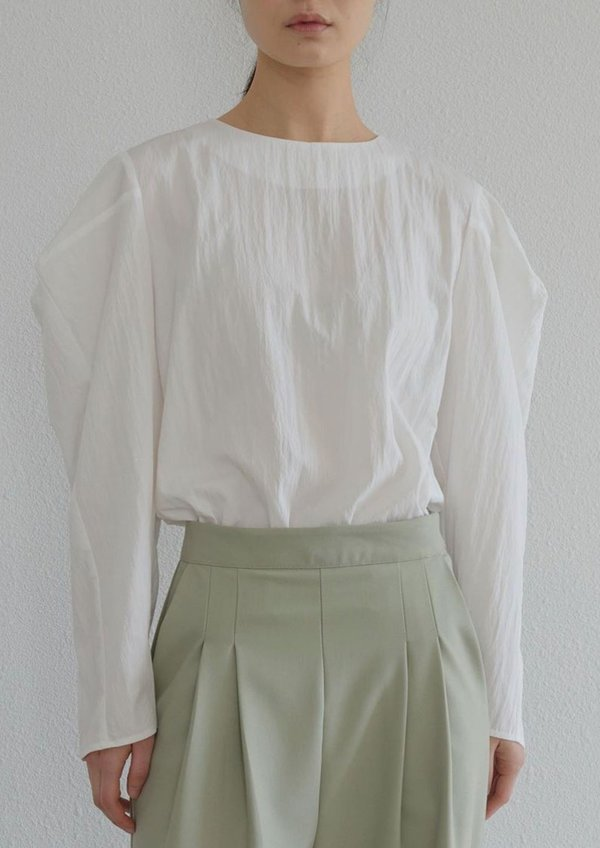 W A N T S Puff Sleeves Blouse - White