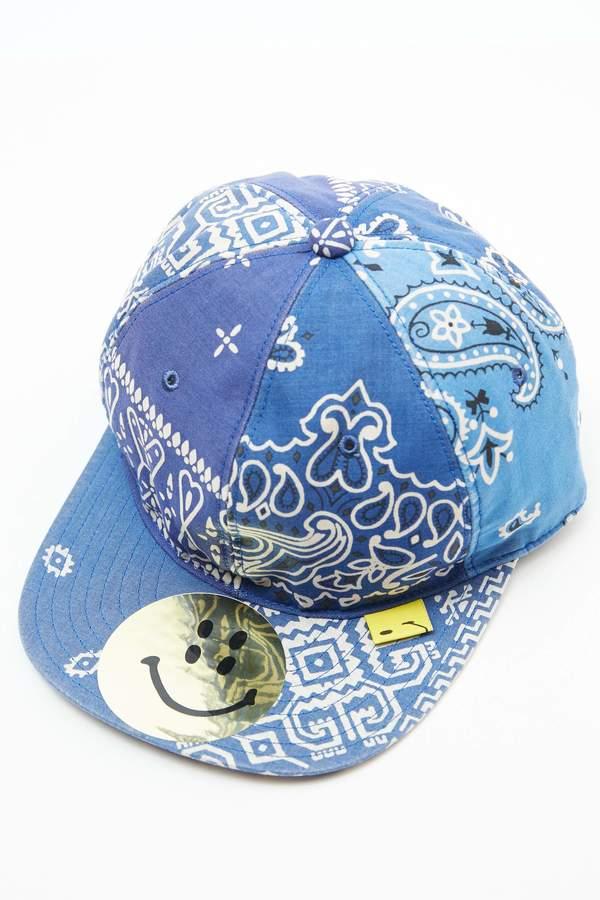 Kapital Cotton Bandana Patchwork Baseball Cap - Blue