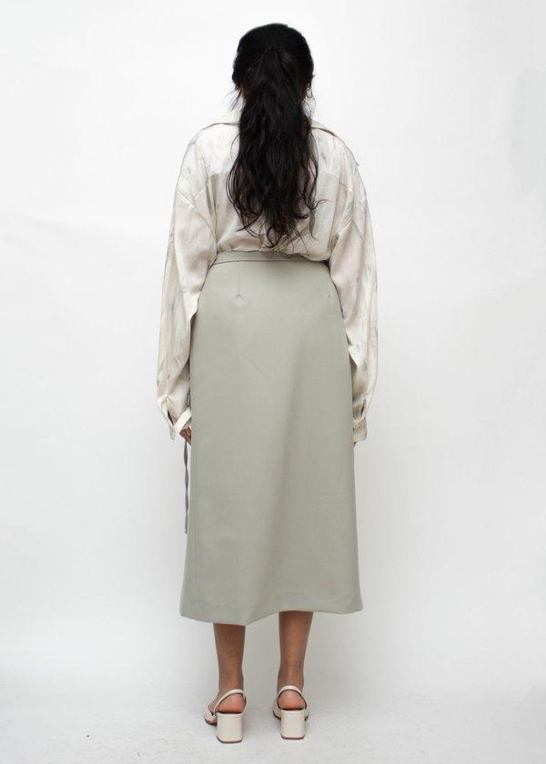 W A N T S Tied Midi Skirt - Mint Green