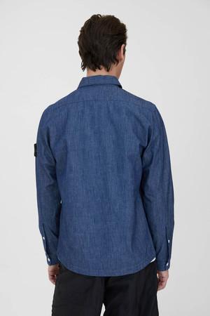 Stone Island Chambray Wash Shirt - Blue