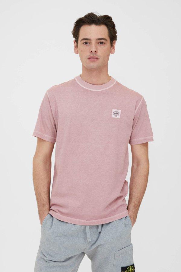 Stone Island Cotton Jersey Fissato T Shirt - Rose Quartz