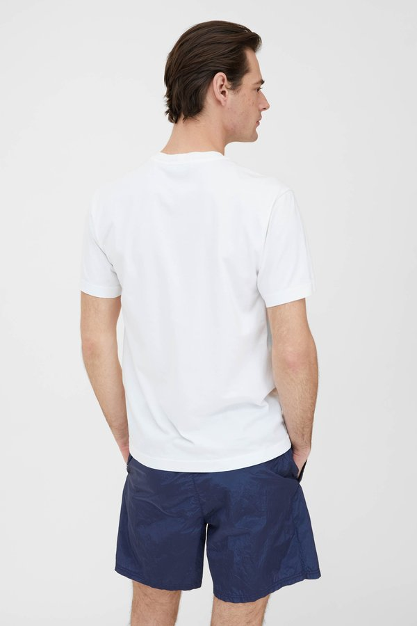 Stone Island Cotton Jersey Garment Dyed T Shirt - White