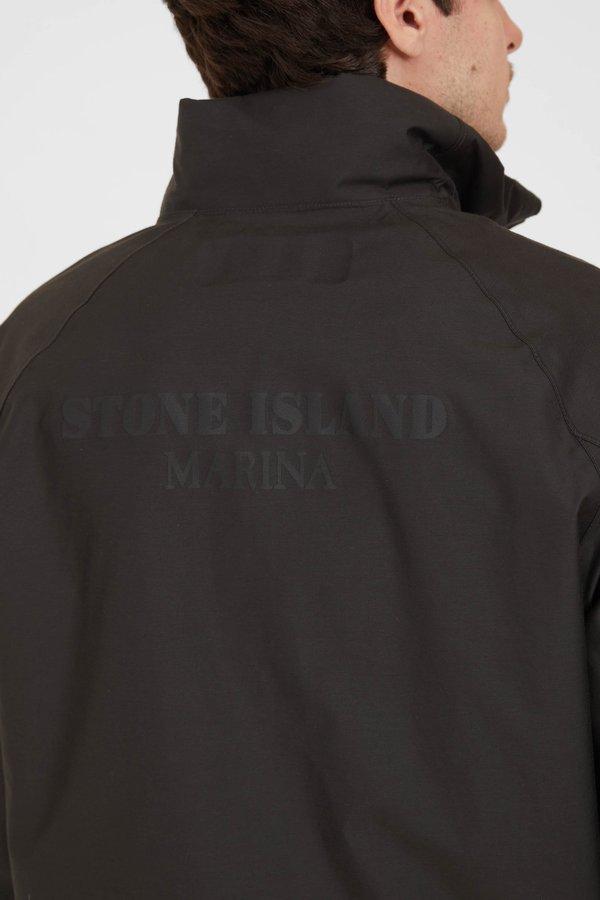 Stone Island Marina Jacquard Marina 3L Anorak - Black