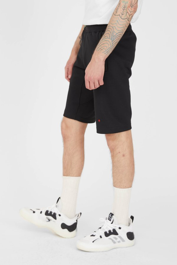 Stone Island Marina Seaqual Yarn Fleece Bermuda Shorts - Black