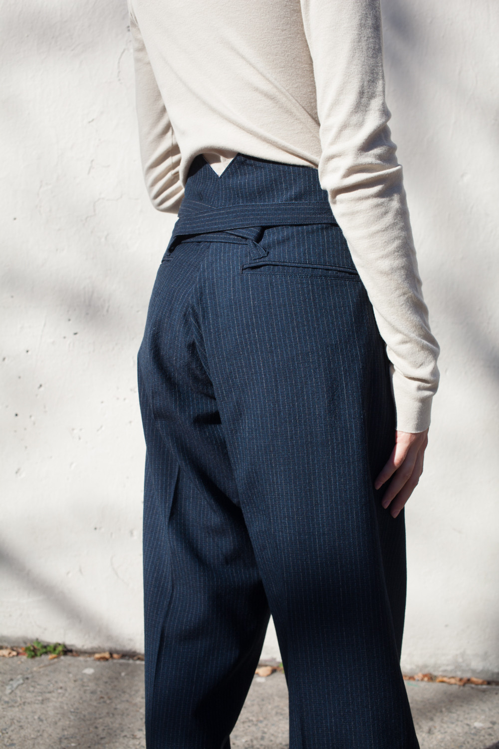 Visvim Hakama Pants In Navy Wool Garmentory