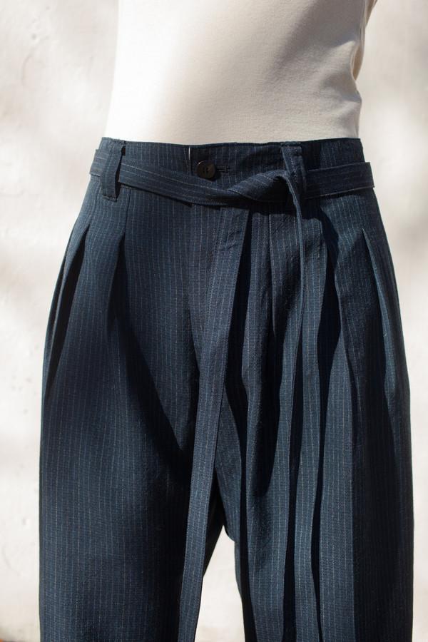 Visvim Hakama Pants In Navy Wool Garmentory