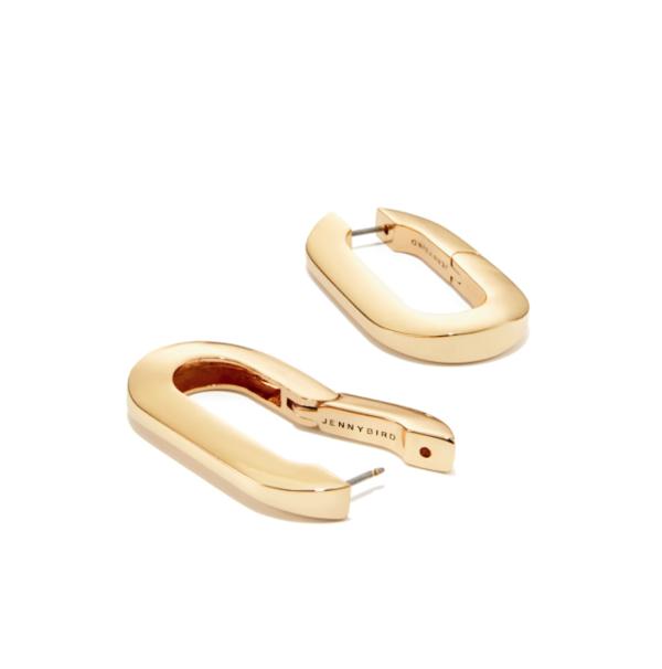 Jenny Bird Mega U-Link Earrings - Gold
