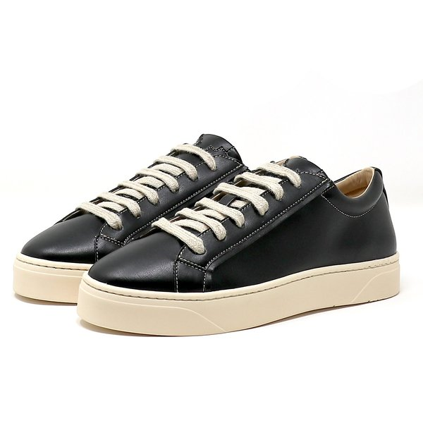 Sylven New York MEL vegan apple leather sneakers - black/oat