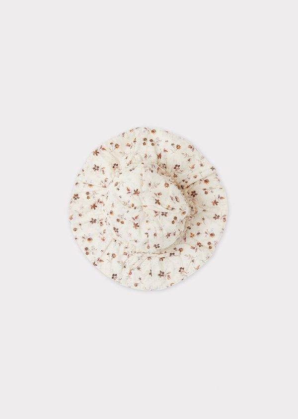 kids Caramel Marlin Sunhat - Ditsy Floral Print
