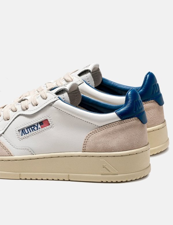 Autry Medalist LS28 Leather/Suede Trainers - White/Blue