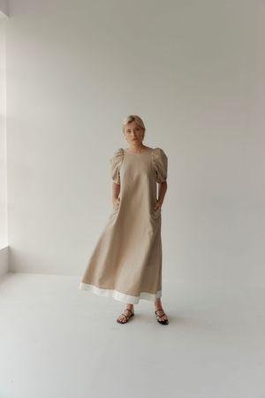 Mina Bloom Dress - Taupe