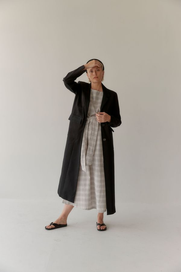 Mina Frida Coat - Black