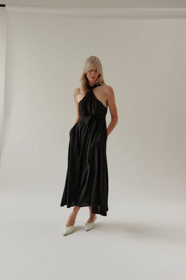 Mina Moa Dress - Black