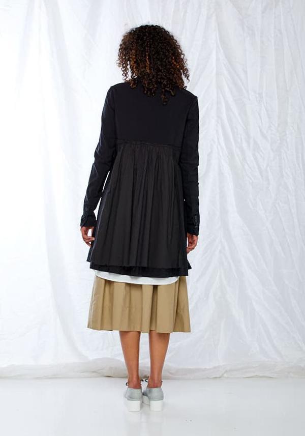 Rundholz Black Label Contrast Panel A-Line Jacket - black