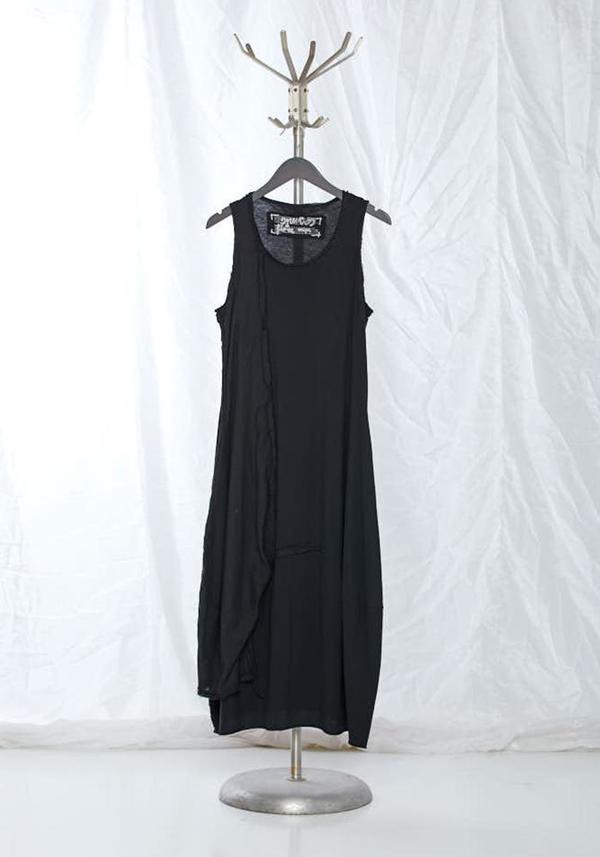 Rundholz Black Label Contrast Panel Sleeveless Bubble Dress