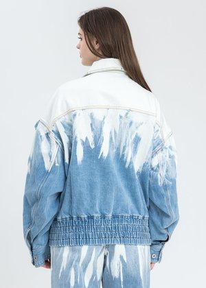 Feng Chen Wang Layered Denim Jacket - blue
