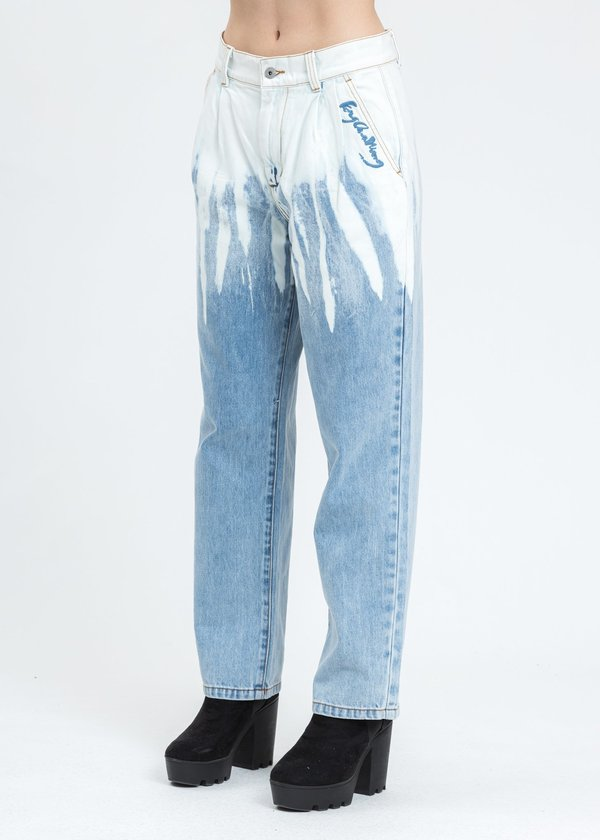 Feng Chen Wang Denim Washed Jeans - Blue