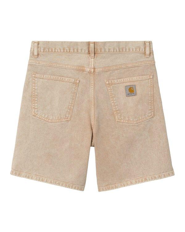 CARHARTT WIP Pantalón corto Newell - Dusty Heather Brown Worn Washed