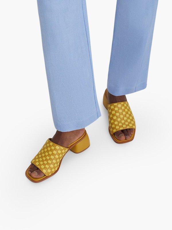 Paloma Wool Chess Slipon Sandals - yellow