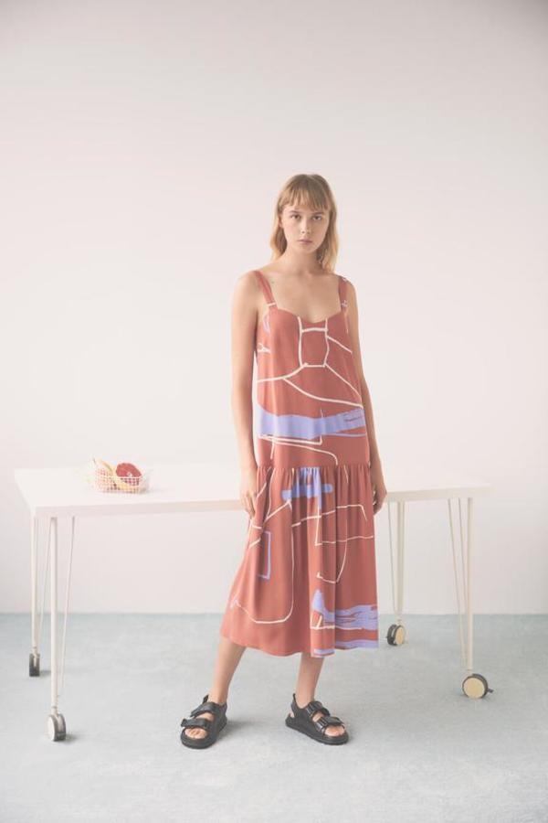 Eve Gravel Ava Dress - terracotta