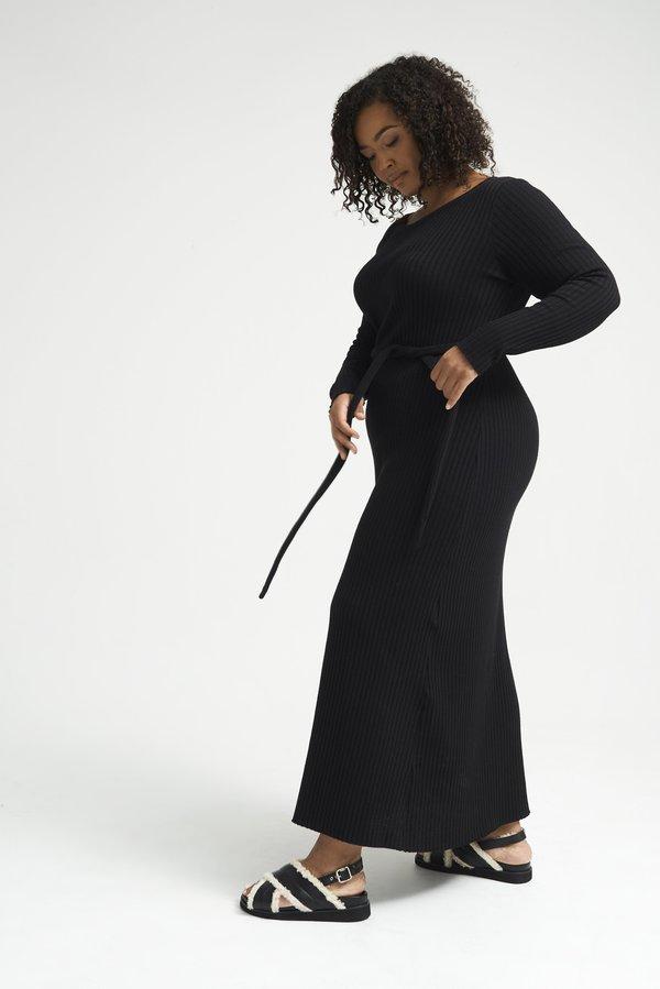 Lois Hazel Pillar Dress - Black
