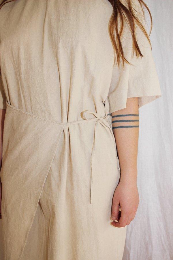 Toit Volant Wrap Me Up Dress - cream