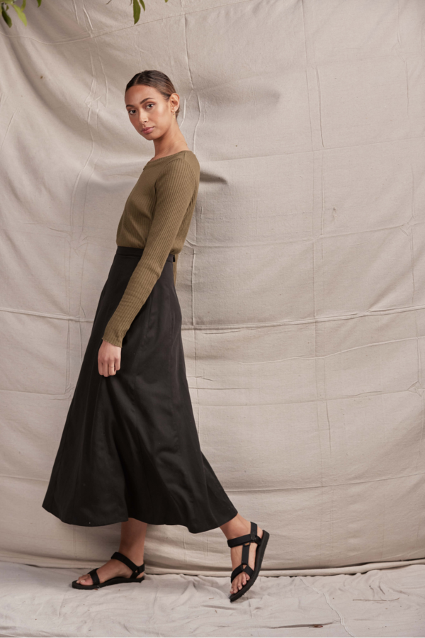 Lois Hazel Apollonia Skirt - Black