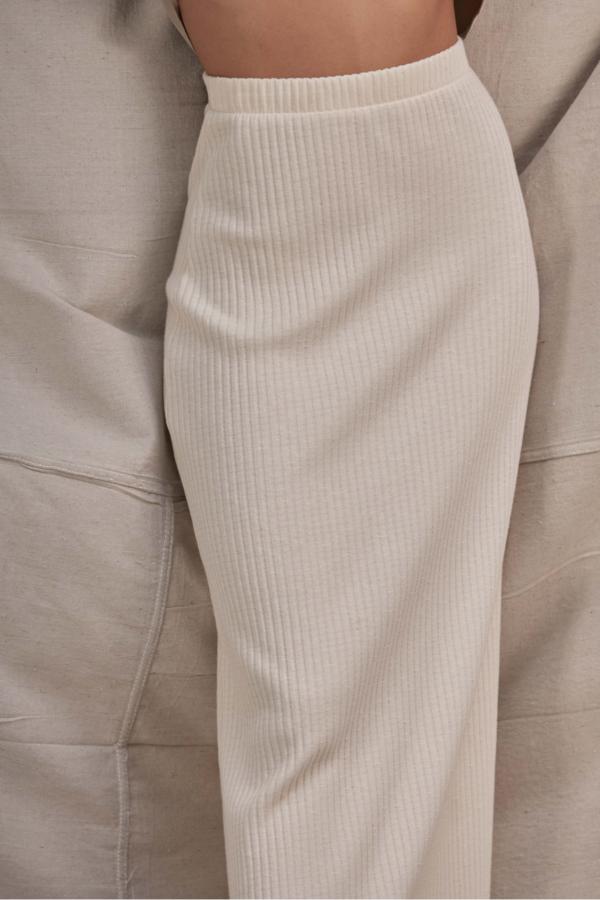 Lois Hazel Pillar Skirt - Cream