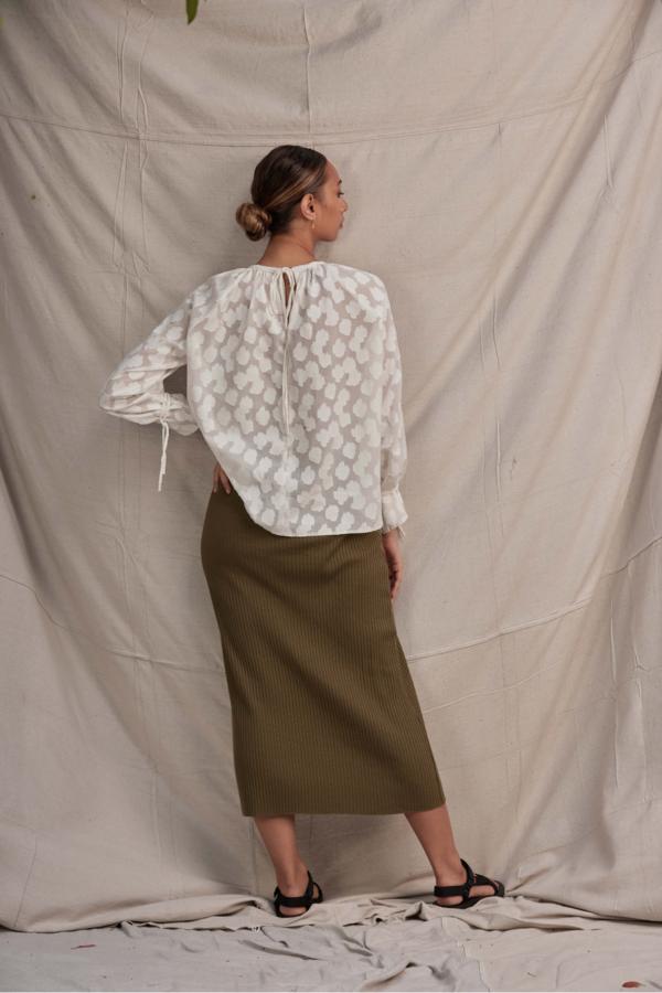 Lois Hazel Pillar Skirt - Olive
