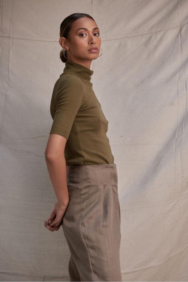 Lois Hazel Roman Pant - Khaki
