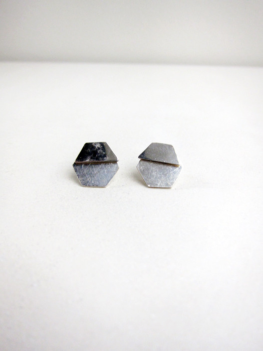 Kat Seale 2-Part Earrings Hexagons