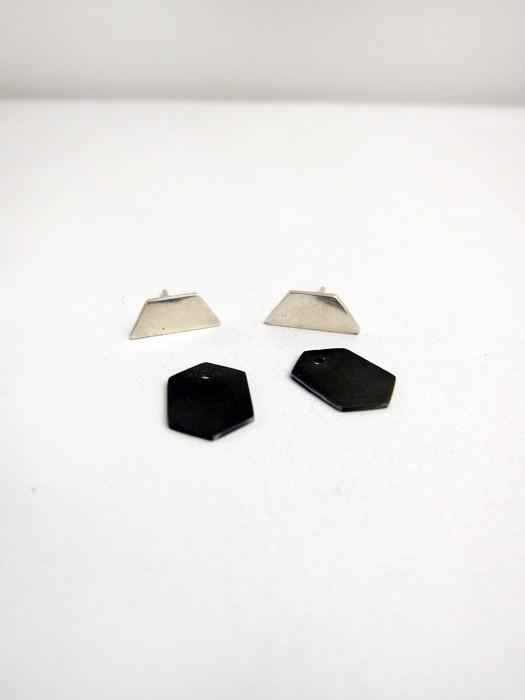 Kat Seale 2-Part Earrings Longer Trapezoid