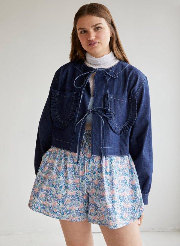 Eliza Faulkner Carrie Denim Jacket - blue