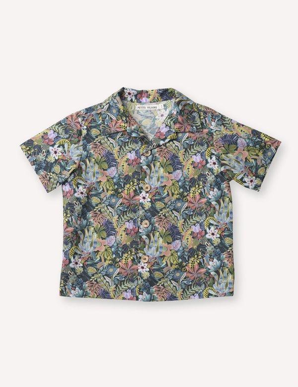 Kids Petits Vilains Adrien Aloha Shirt - Jungle